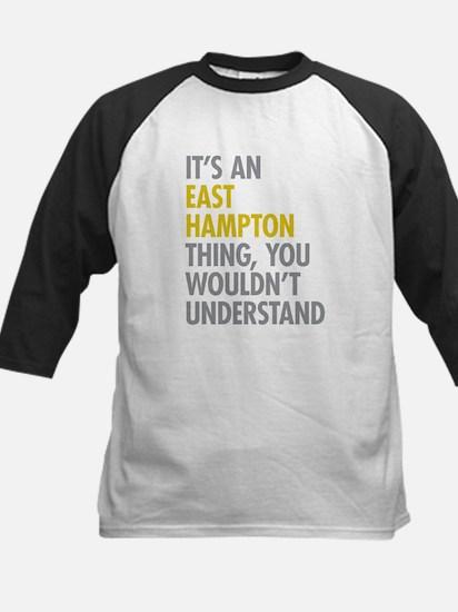 Its An East Hampton Thing Kids Baseball Jersey