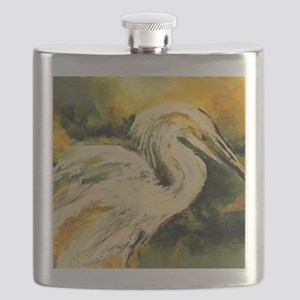 Egret catching his dinner Flask