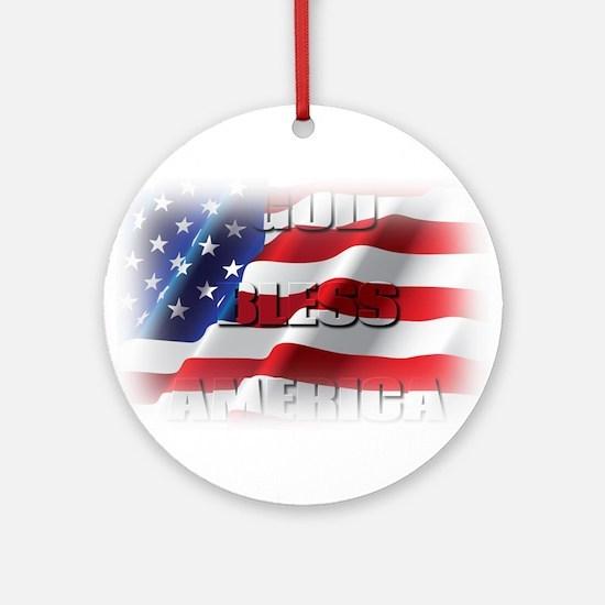 Patriotic God Bless America Ornament (Round)