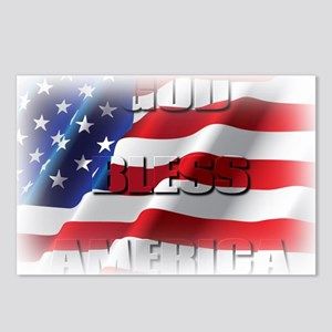 Patriotic God Bless America Postcards (Package of