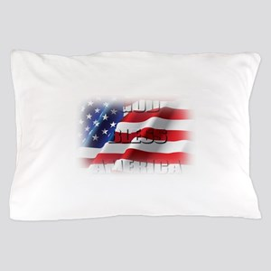 Patriotic God Bless America Pillow Case