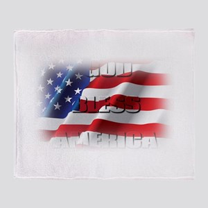 Patriotic God Bless America Throw Blanket