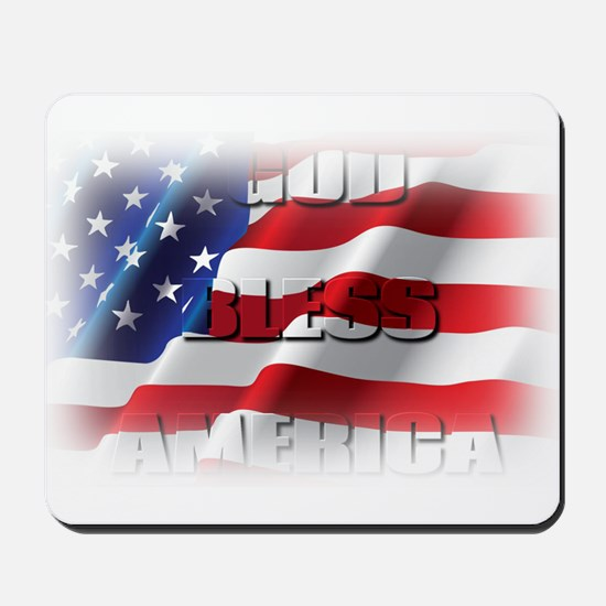 Patriotic God Bless America Mousepad