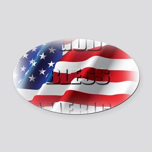 Patriotic God Bless America Oval Car Magnet