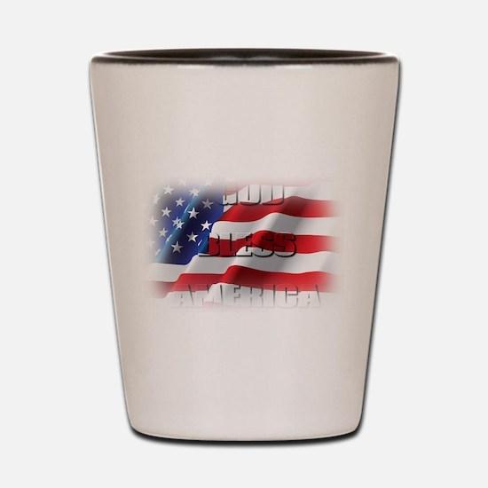 Patriotic God Bless America Shot Glass