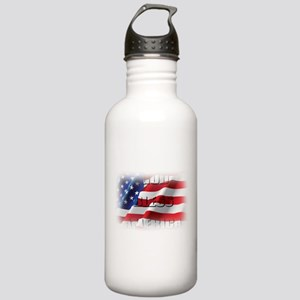 Patriotic God Bless America Water Bottle