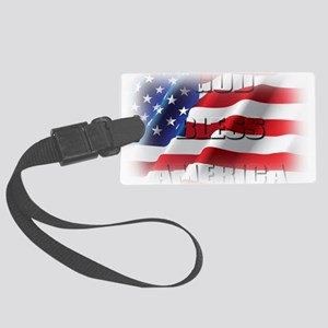 Patriotic God Bless America Luggage Tag