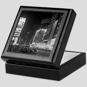 Times Square at Night, 1953 Keepsake Box