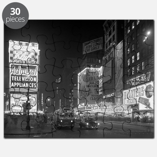 Times Square at Night, 1953 Puzzle