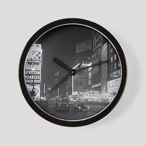 Times Square at Night, 1953 Wall Clock