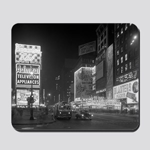 Times Square at Night, 1953 Mousepad