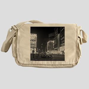 Times Square at Night, 1953 Messenger Bag
