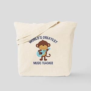 Worlds Greatest Music Teacher Monkey with Guitar T