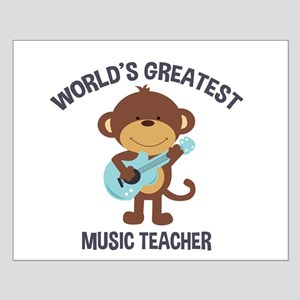 Worlds Greatest Music Teacher Monkey with Guitar P