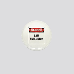Danger Anti-Union Mini Button