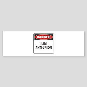 Danger Anti-Union Sticker (Bumper)