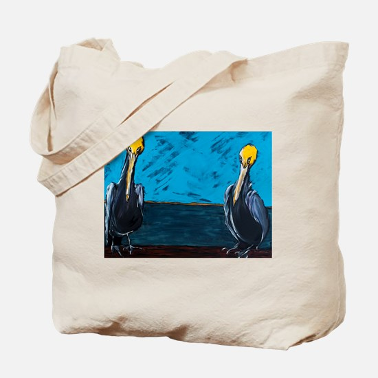 Tourism Agents at Work on the Pier Tote Bag