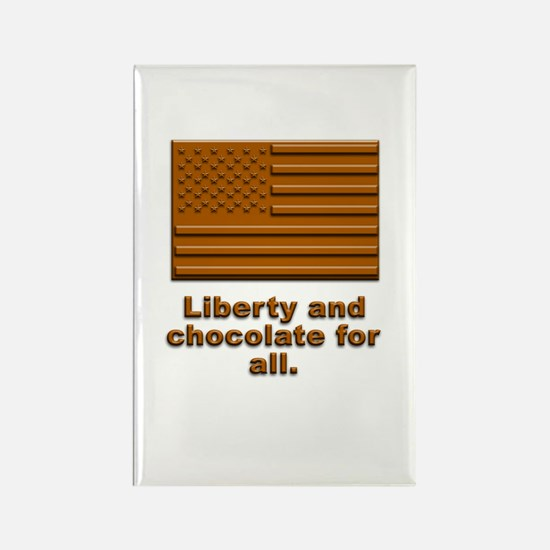 Liberty & Chocolate Rectangle Magnet (100 pack)