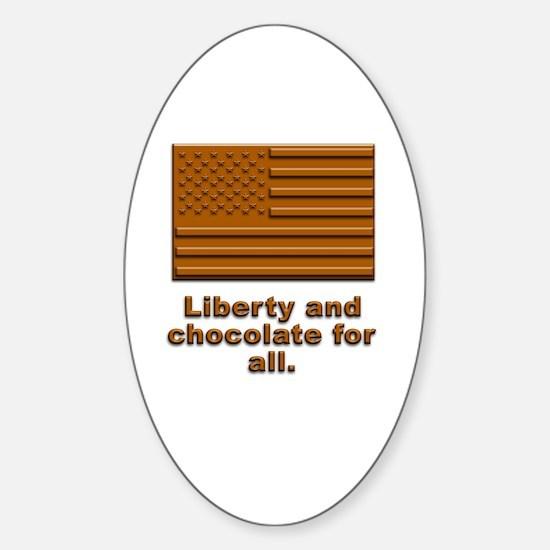 Liberty & Chocolate Oval Decal