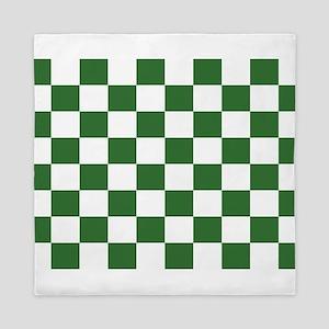 Chartreuse Checkerboard Queen Duvet