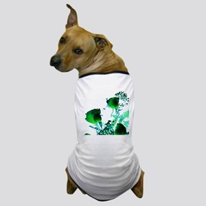 glowing green rose spray against white Dog T-Shirt