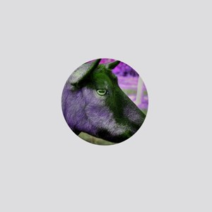 oberhasli doe head close up green magenta Mini But