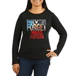 Never Forget Who Wmns Lng Slv Dark T