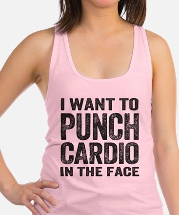 Punch Cardio In The Face Racerback Tank Top