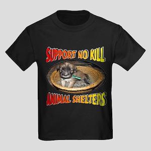 Support No Kill Animal Shelters Kids Dark T-Shirt