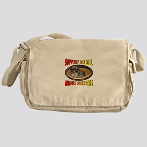 Support No Kill Animal Shelters Messenger Bag