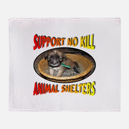 Support No Kill Animal Shelters Throw Blanket