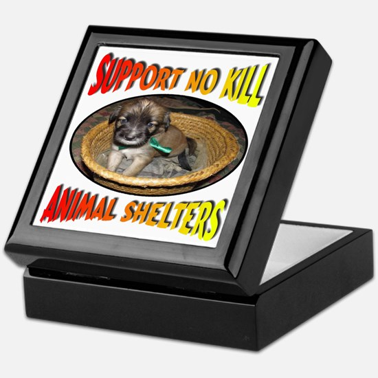 Support No Kill Animal Shelters Keepsake Box