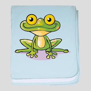 Cute Green Frog baby blanket