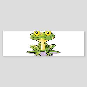 Cute Green Frog Bumper Sticker