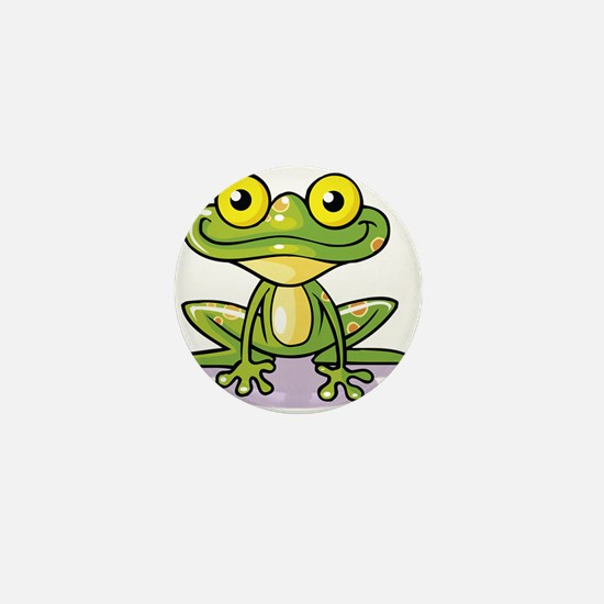 Cute Green Frog Mini Button