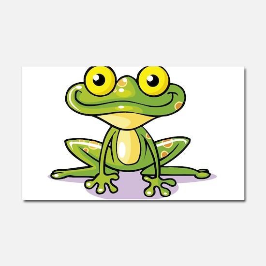 Cute Green Frog Car Magnet 20 x 12