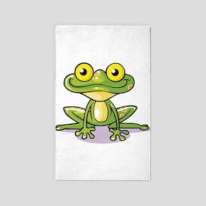 Cute Green Frog 3'x5' Area Rug