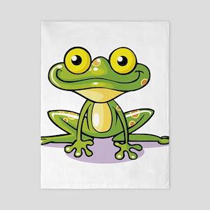 Cute Green Frog Twin Duvet