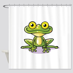 Cute Green Frog Shower Curtain