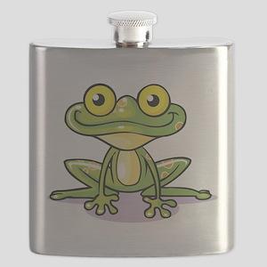Cute Green Frog Flask