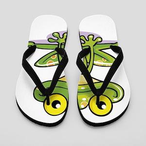Cute Green Frog Flip Flops