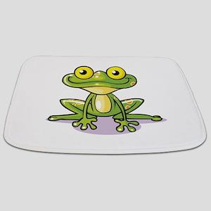 Cute Green Frog Bathmat