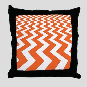 Fast Lane Orange Throw Pillow