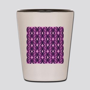 Pink Popping Swirls Shot Glass