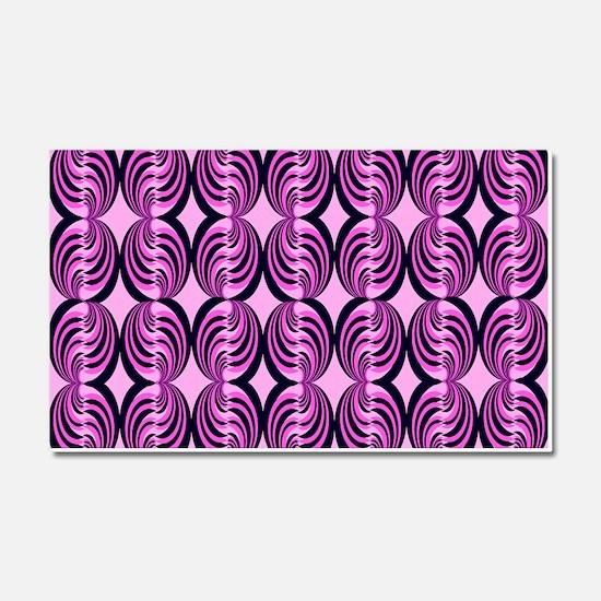 Pink Popping Swirls Car Magnet 20 x 12