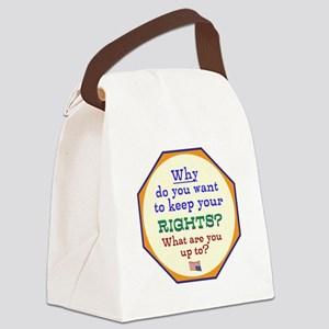 Constitutional Rights Canvas Lunch Bag