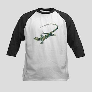 Mosaic Polygon Green Lizard Baseball Jersey