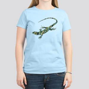 Mosaic Polygon Green Lizard T-Shirt