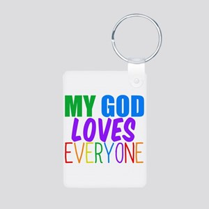 My God Loves Aluminum Photo Keychain