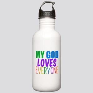 My God Loves Stainless Water Bottle 1.0L